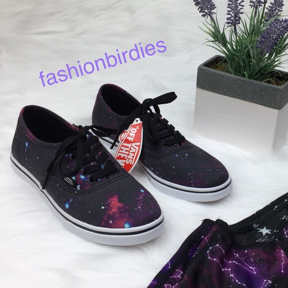 NWT Vans Purple and Black Galaxy Shoes a255a6e28
